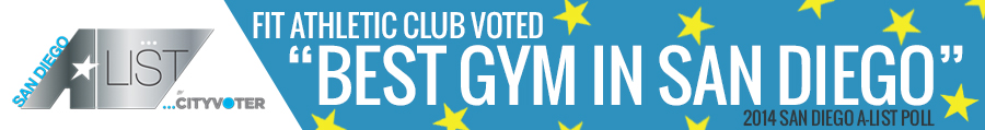 "Fit Wins ""Best Gym in San Diego"" in the 2014 A-List Contest"