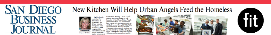 San Diego Business Journal – All Fit Athletic Club Café Profits Benefit Local Homeless Shelter