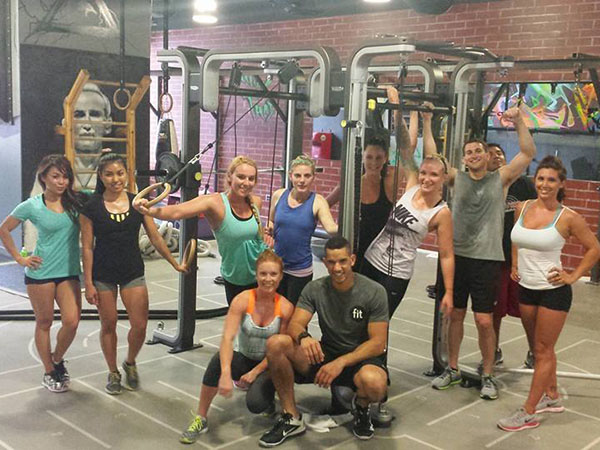 Sweaty smiles with Fit Personal Trainer Kyle Farley.