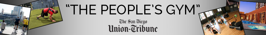 "Union Tribune: Fit Athletic declared ""The People's Gym""."