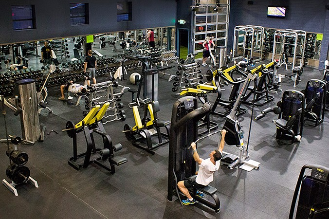 Fit Athletic Gym Solana Beach Interior Bench Floor