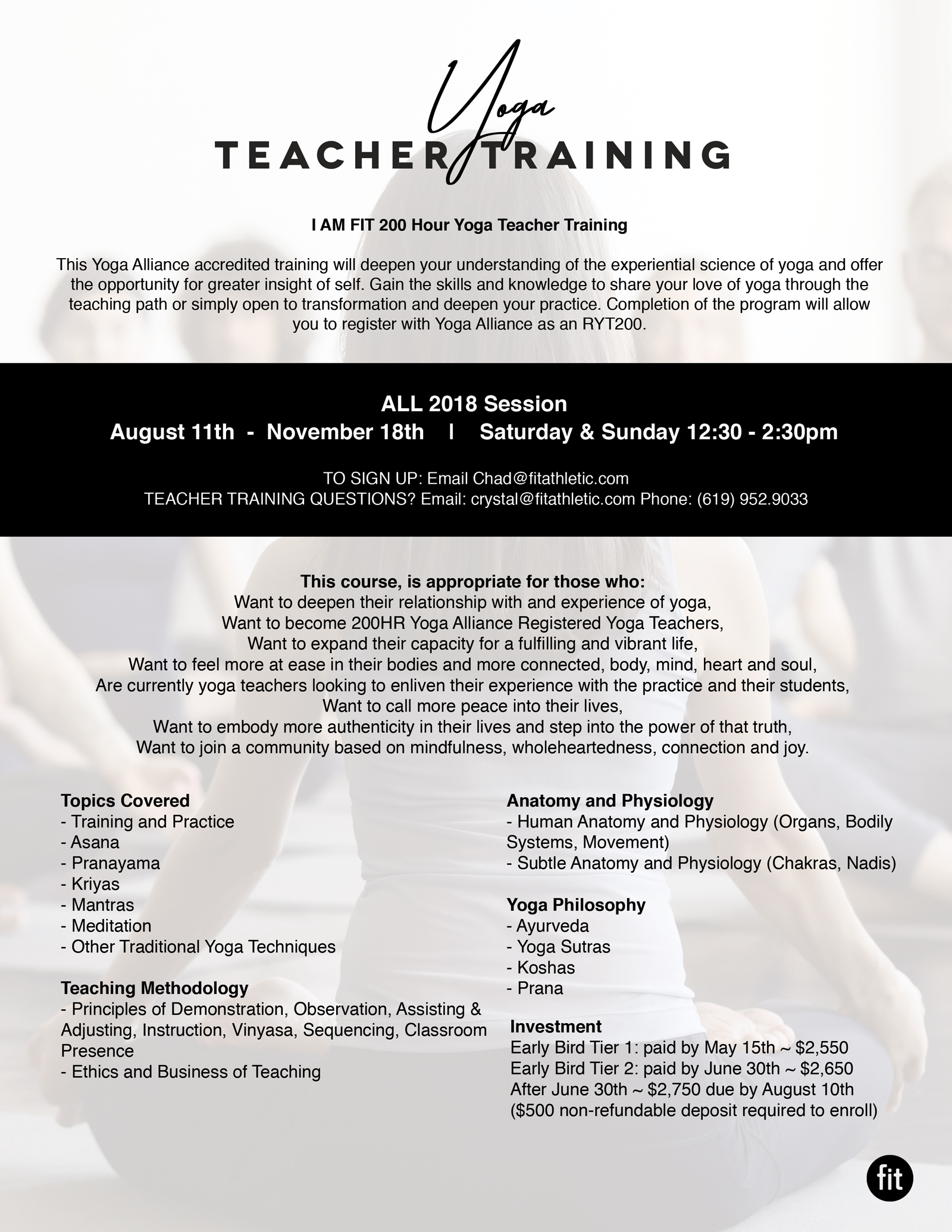 Fit Yoga Teacher Training Program