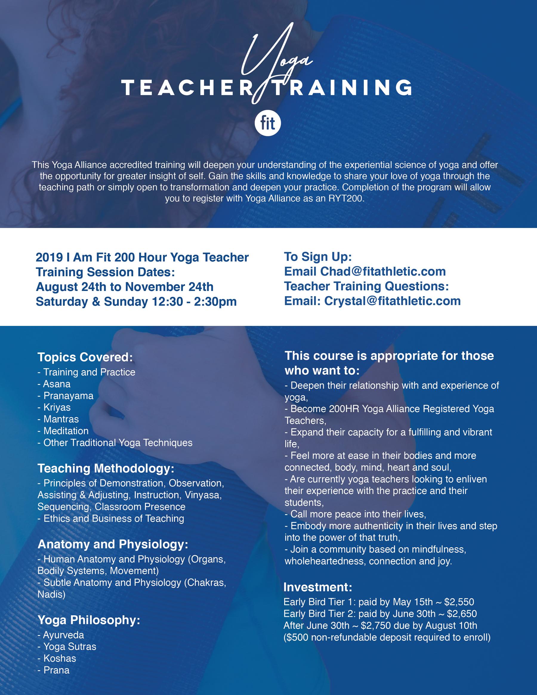 Fit Yoga Teacher Training Program